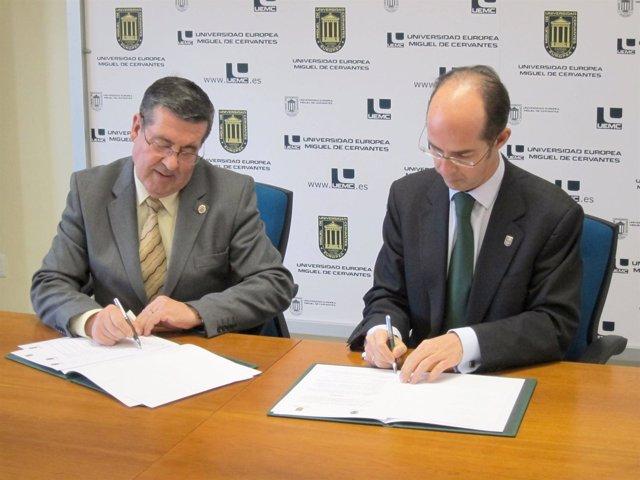 El rector de la UPSA (izquierda) y el de la UEMC (derecha)