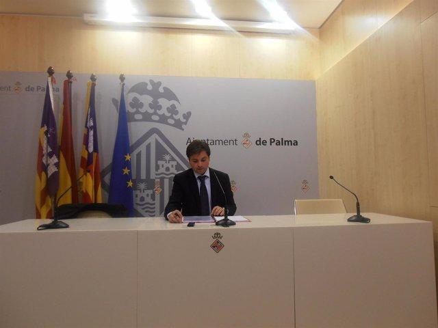Jesus Valls en rueda de prensa