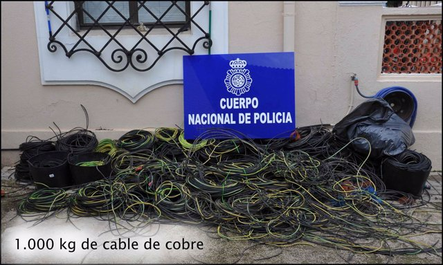 Cable de cobre intervenido en Denia