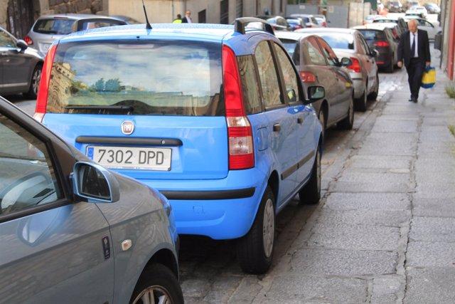 Linea azul, zonas de aparcamiento, aparcamientos, linea naranja, parquimetros