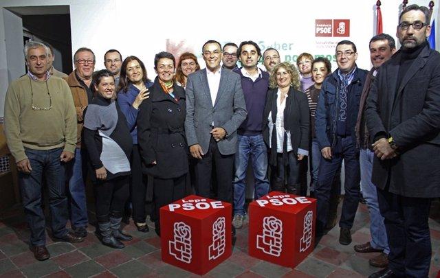 El secretario del PSOE de Huelva, Ignacio Caraballo, en Lepe.