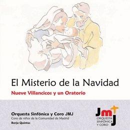 Carátula del disco de Villancicos de la Orquesta Sinfónica y Coro JMJ