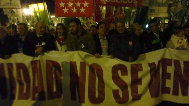Manifestación huelga sanidad