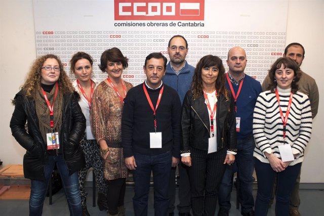 Nueva ejecutiva de COMFIA  de CCOO