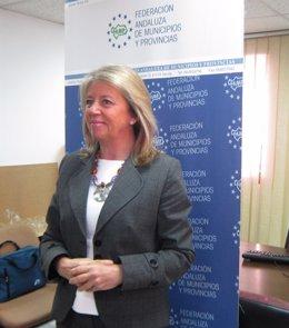 Ángeles Muñoz, hoy ante los medios