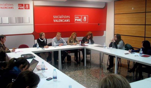 Reunión De Dirigentes Del PSPV Con Alcaldes
