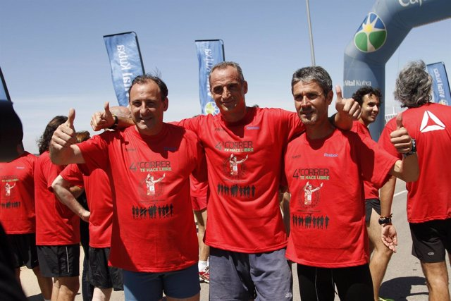 Fermín Cacho, Rafa Guijosa Y Martín Fiz En Un Homeja Al Soriano