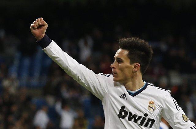 José Callejón celebra el primer gol ante el Alcoyano
