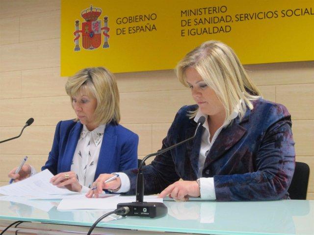 La directora del CREA y la presidenta de la Fundación Catalina Hoffman