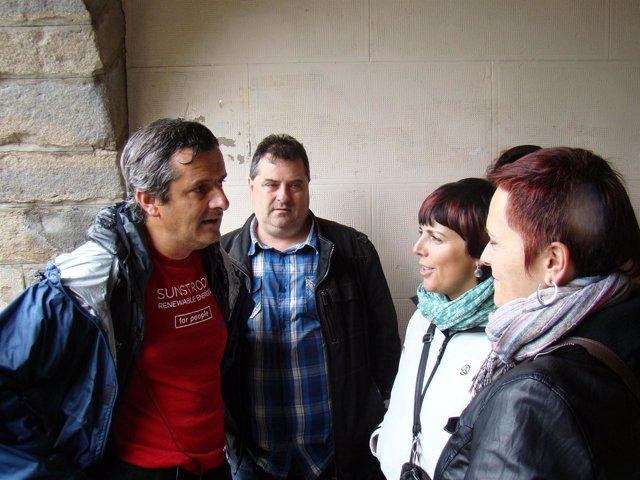 A la izquierda, Guillermo Nagore Frauce.