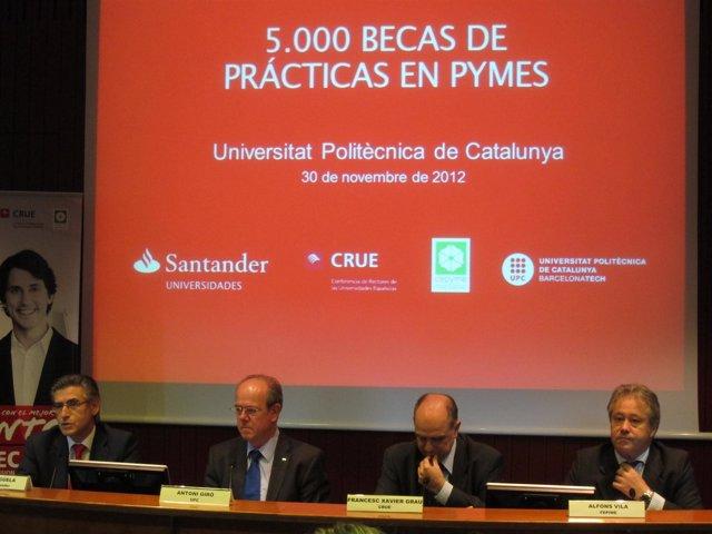 P.Cigüela (Santander), A.Giró (UPC), F.X.Grau (CRUE) y A.Vila (Fepime)
