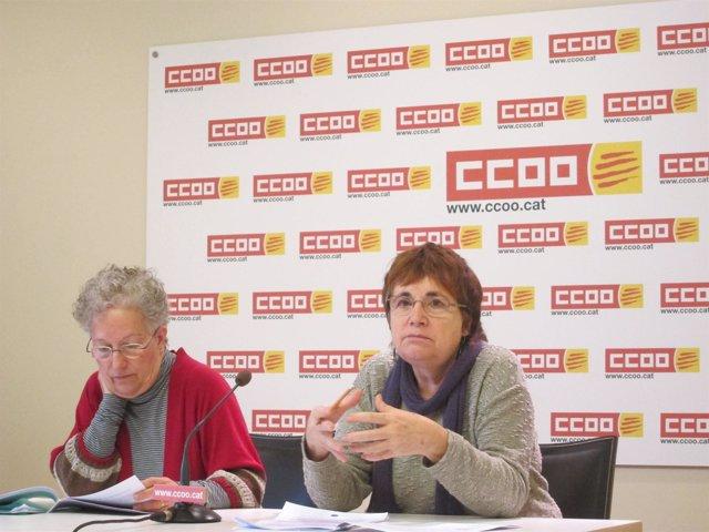 Carme Catalán y Rosa Bofill, CC.OO.