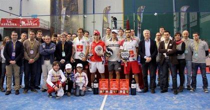 Varios.- Nerone y Gutiérrez levantan su cuarto título de la temporada de pádel en la Rioja