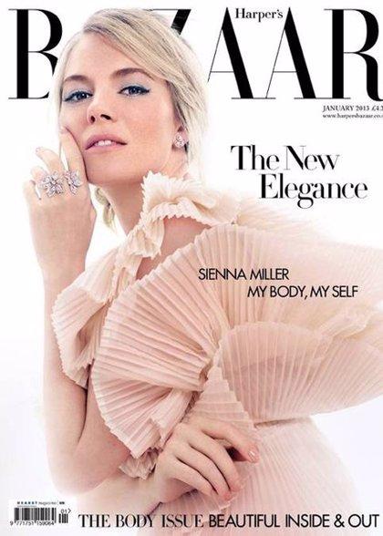 Siena Miller inunda de romanticismo la portada de Harper's Bazaar