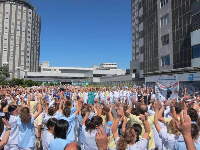 Protesta De Los Trabajadores De La Paz