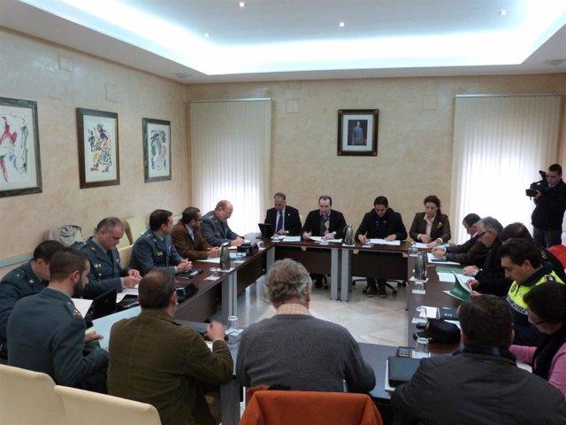 Comisión técnica reunida en Almonte.