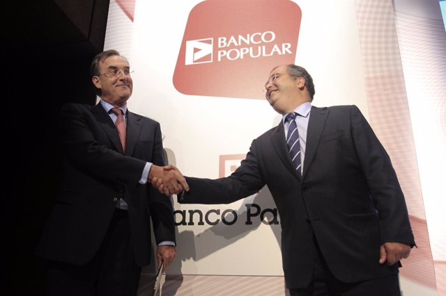 El Presidente De Banco Pastor, José María Arias, Y De Popular, Angel Ron