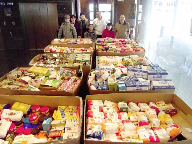 Aspace entregará 5.000 kilos de comida al Banco de Alimentos de Navarra.