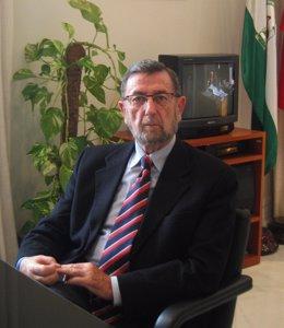 Manuel Gracia, en un momento de la entrevista