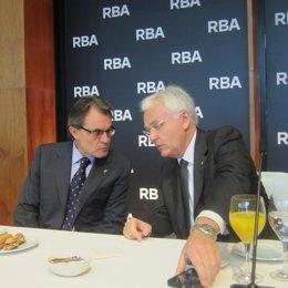 Artur Mas, y  Ferran Mascarell