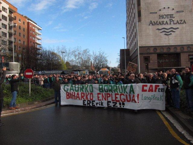Manifestación de trabajadores de CAF