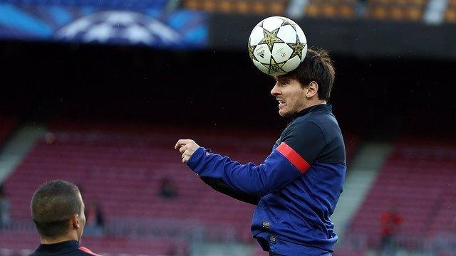 Leo Messi entrenamiento Barcelona previo Celtic