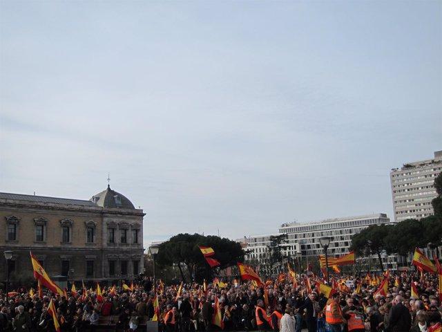 Concentración en la Plaza de Colón en defensa de la unidad de España