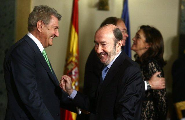 Rubalcaba y Posada en el acto de la Constitución