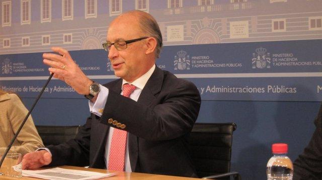 El ministro de Hacienda, Cristóbal Montoro
