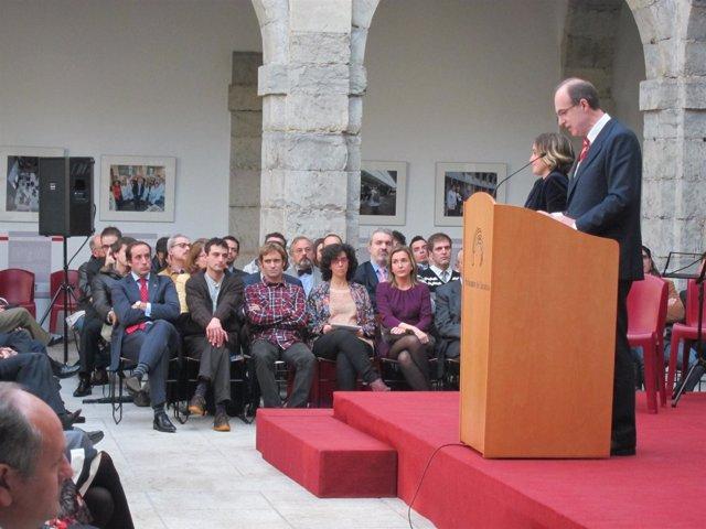 José Antonio Cagigas durante el acto de la Constitución