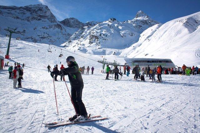 Estación de esquí de Formigal el primer día de la temporada 2012-13