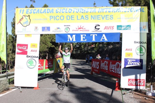 Peter Obwaller, ganador del Pico de las Nieves 2012