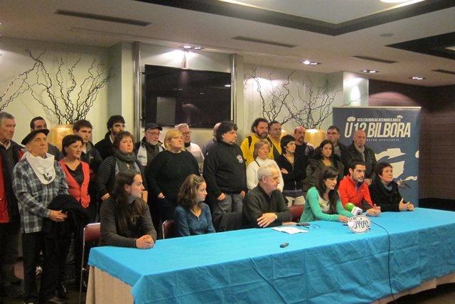 Representantes de los colectivos adheridos a la marcha del 12 de enero