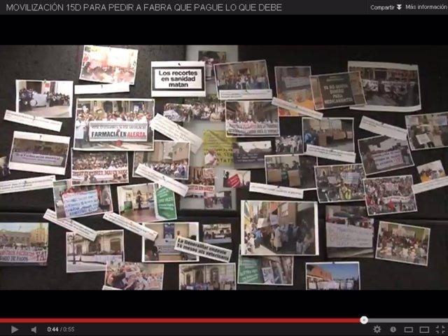 Video del PSPV en el que convoca a protestar el sábado por los impagos