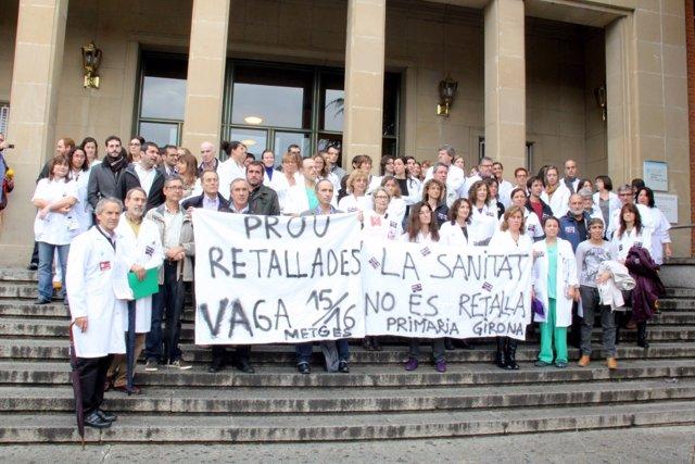 Concentración Médicos En El Hospital Trueta De Girona
