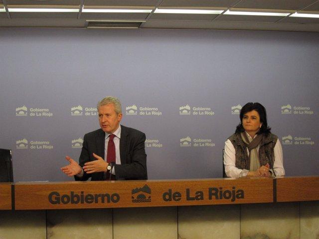 Del Río y Arruga, en la rueda de prensa tras el consejo de hoy