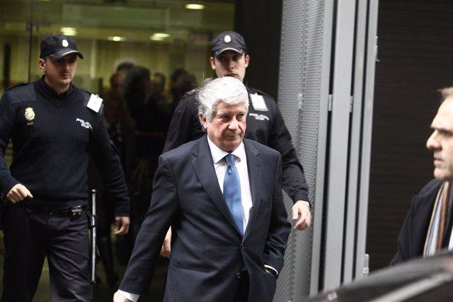 Arturo Fernández declara por el caso Bankia