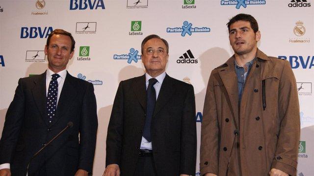 Presentación Partido por la Ilusión Casillas Florentino Pérez Ignacio Moliner