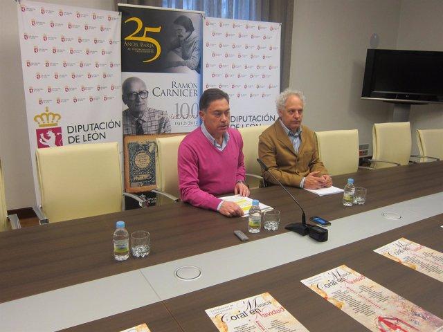 El diputado Marcos Martínez y el director del ILC Jesús de Celis