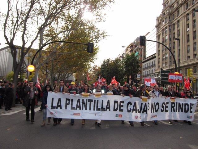 Trabajadores de Caja3 protestan contra plan de reestructuración ...