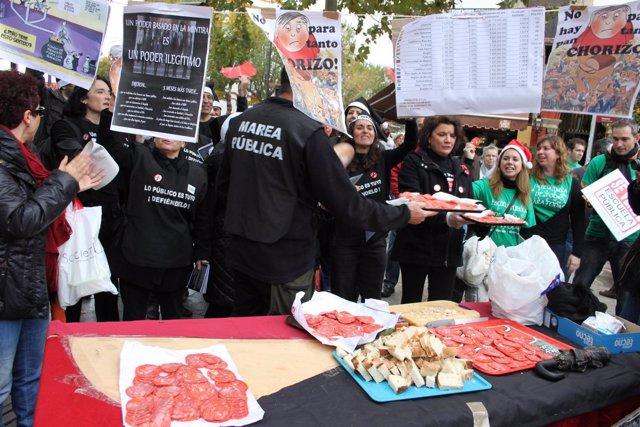 Chorizada de empleados públicos en Puerta Jerez