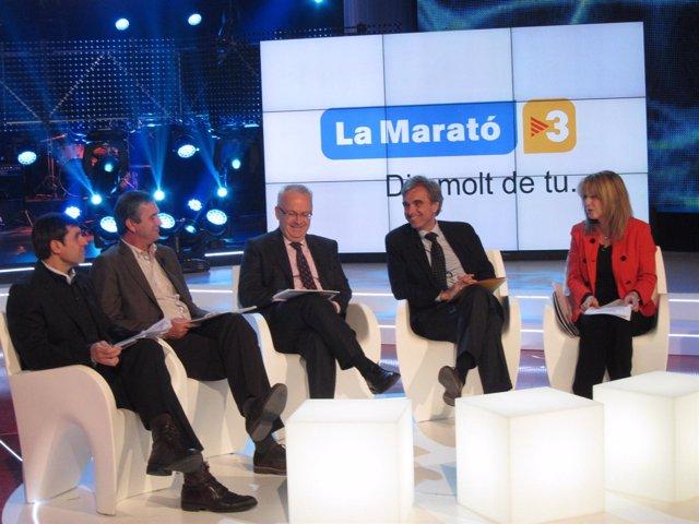 Bernabé, Sallent, Duart, Riera y Cóppulo han presentado 'La Marató' de TV3