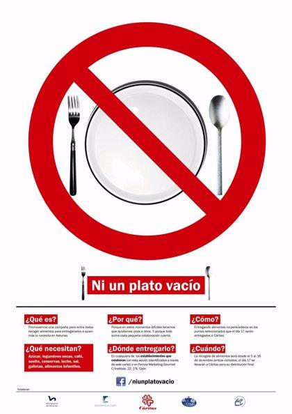 Finaliza este domingo la campaña solidaria 'Ni un plato vacío'