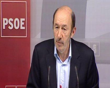 """Rubalcaba critica el """"sufrimiento"""" que el copago sanitario genera a los ciudadanos"""