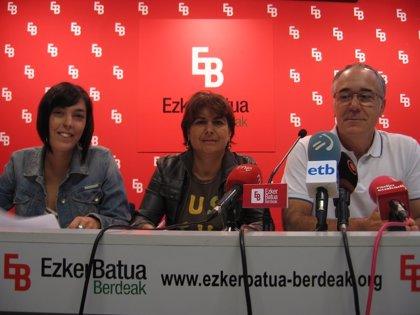 """Ezker Batua pide al lehendakari que no haga una """"política de recortes como Rajoy"""" y garantice la """"justicia social"""""""