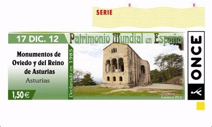 La ONCE dedica el cupón del 17 de diciembre a los monumentos de Oviedo y del 'Reino de Asturias'