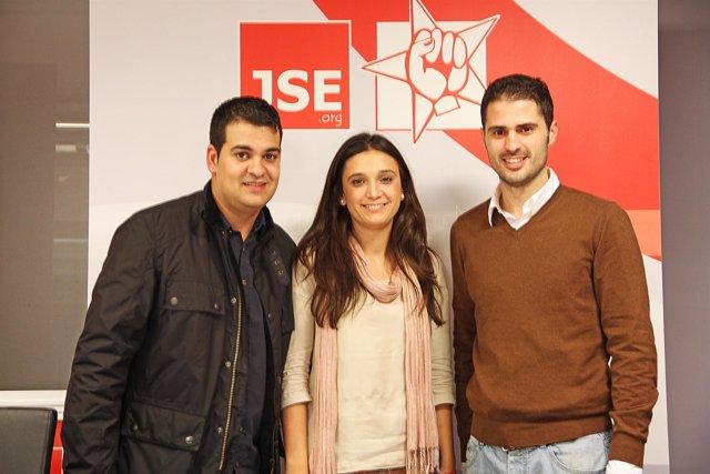 La onubense María Márquez en el Comité Federal de las JSE en Madrid