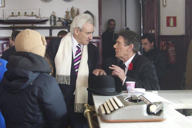 Luis del Olmo y Fofito en rodaje Spot Campofrio en diciembre de 2012.Photo: Cesa