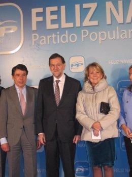 Esperanza Aguirre, Ignacio González y Mariano Rajoy