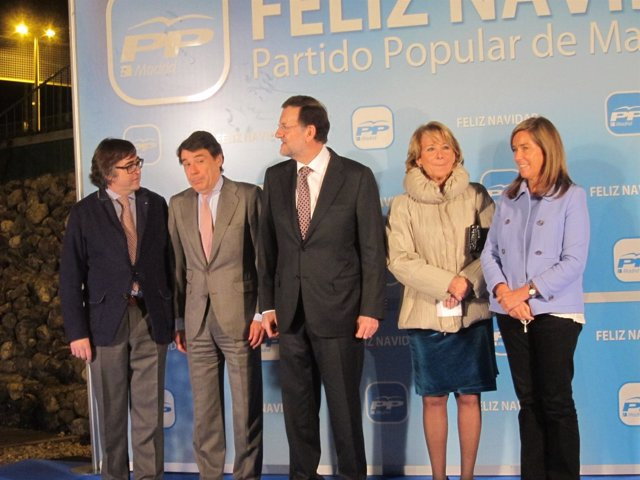 Mariano Rajoy, Ana Mato, Ignacio González y Esperanza Aguirre